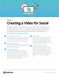 Checklist - creating a video for Social