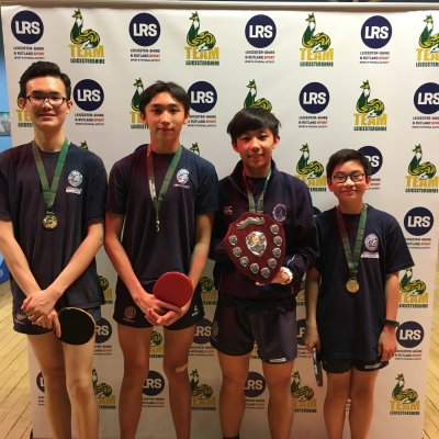 Uppingham School crowned U19 Team Leicestershire Table Tennis Champions!