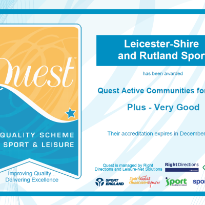 "We've achieved ""Very Good"" in our recent QUEST Assessment"