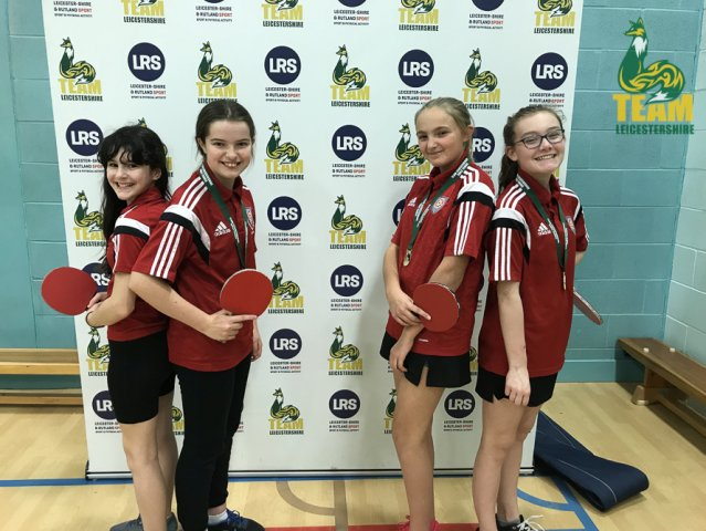 Market Bosworth U13 Girls Progress to Table Tennis Nationals!
