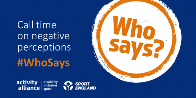 "#WhoSays: ""Athletes with a disability don't train as hard as other athletes?"""