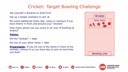 Cricket challenges session plans