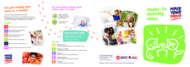 Make Your Move Activity Flyer Under 5s