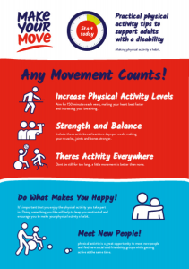 Make Your Move Activity Flyer Adults with a Disability