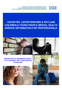 LLR Children & Young People Mental Health Service Information Booklet