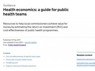 Health Economics Toolkit