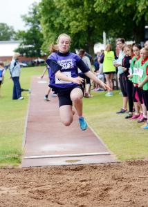 Action from the Quadkids Athletics long jump.