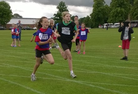 Action from the Quadkids Athletics.