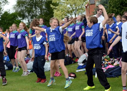 The 2015 Derbyshire School Games opening ceremony atmosphere was 'electric'.
