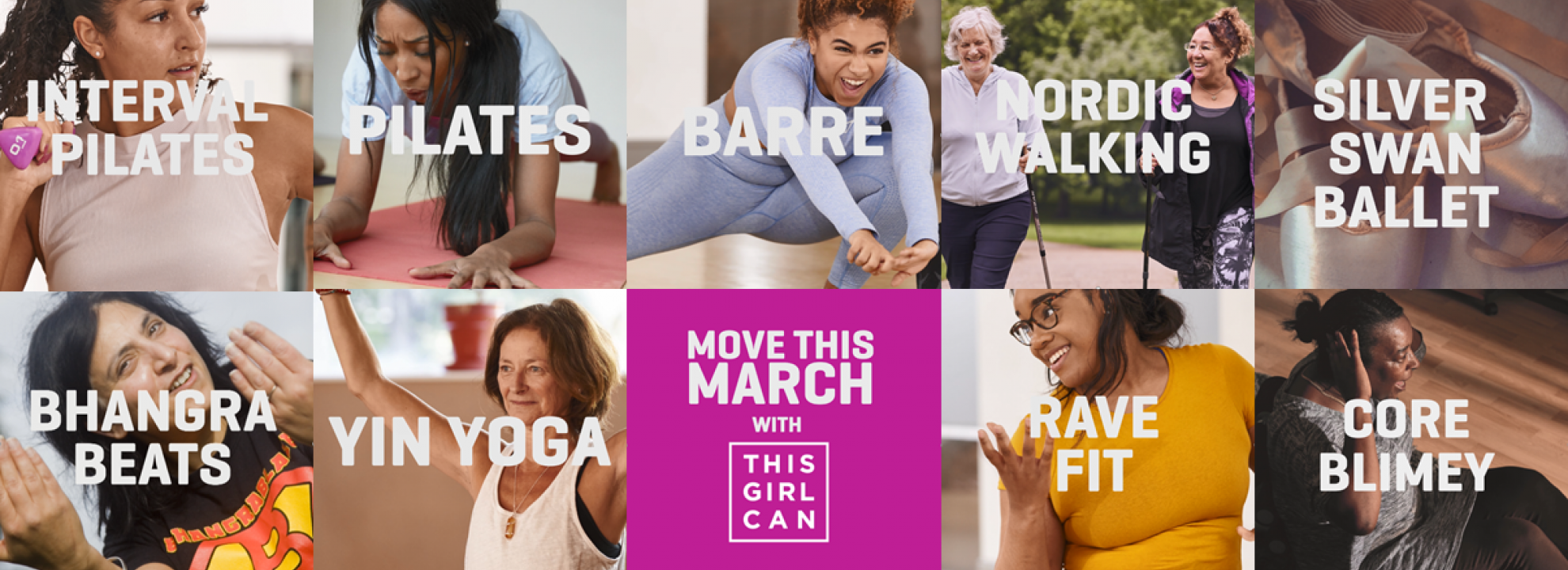 Move This March with This Girl Can Banner
